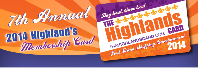 2013 Highland's Membership Card
